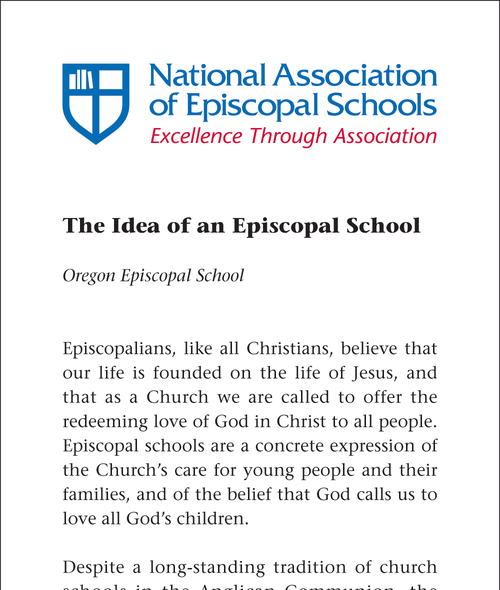 Idea of an Episcopal School Cover